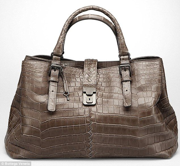 Raking it in: Bags made of exotic skins, like this $30,045 Valentino Tricolor Crocodile Sa...