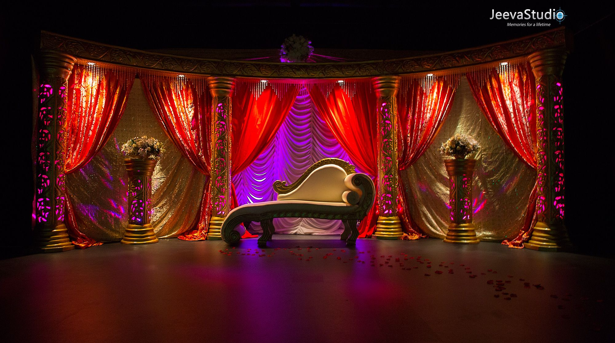 wedding stage decoration pics%0A Wedding hall decoration for a Tamil Wedding  Photography by JeevaStudio