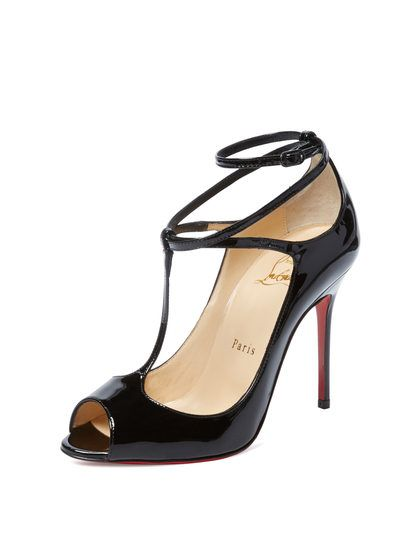 2ad6d1e0b Talitha Patent Leather T-Strap Sandal by Christian Louboutin at Gilt ...