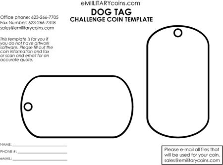 Dog Tag Template  Google Search  Sketches And Templets