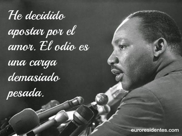Martin Luther King Jr Frases Español Buscar Con Google