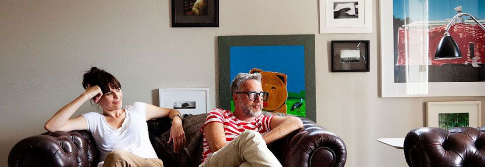 karen walker - fashion designer and mikhail gherman - creative director  at their home - auckland new zealand - april 18th 2011