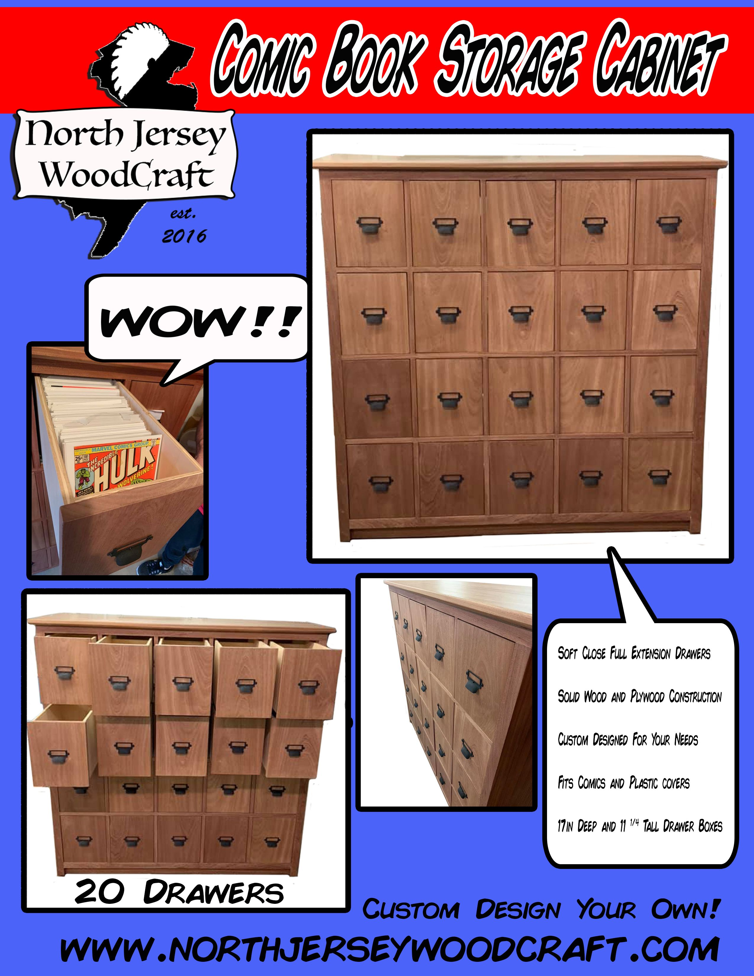 Custom Made Diy Comic Book Storage Cabinet Comic Book Furniture In 2020 Comic Book Storage Book Furniture Comic Books Diy