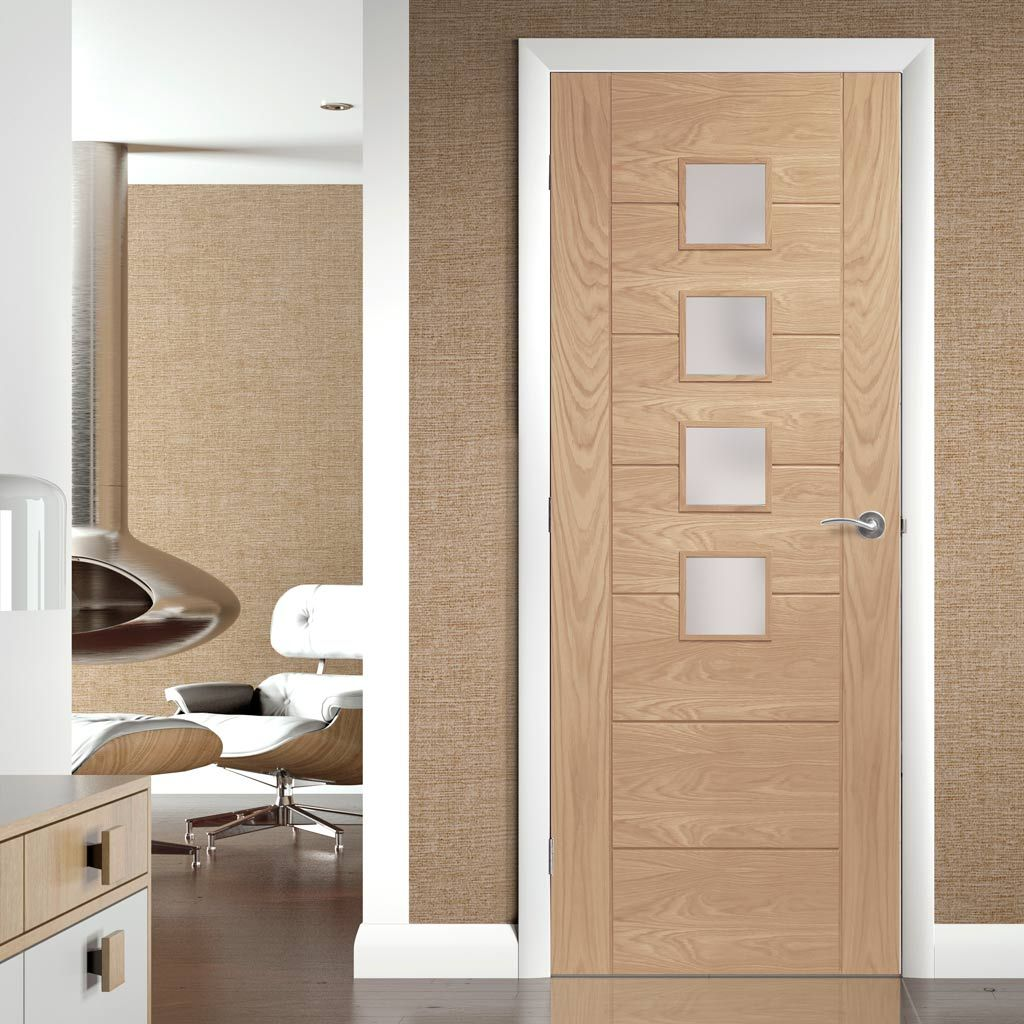 Palermo Oak Fire Door With Obscure Glass 48 72 Hours And Free Anywhere On The Uk Mainland Islands And Exports B Oak Fire Doors Flush Door Design Flush Doors