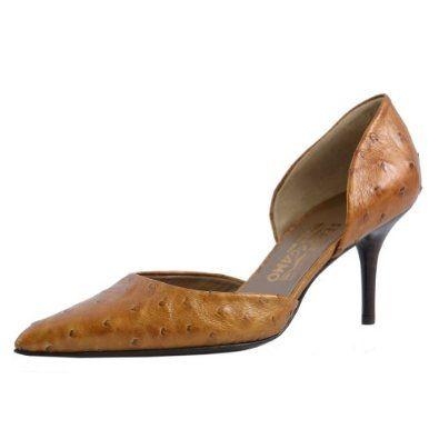 "Salvatore Ferragamo ""Siona"" Ostrich Skin Pointed Toe High Heels Shoes"