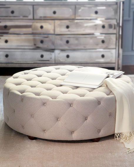 Bevin Tufted Ottoman Round Ottoman Tufted Ottoman Furniture