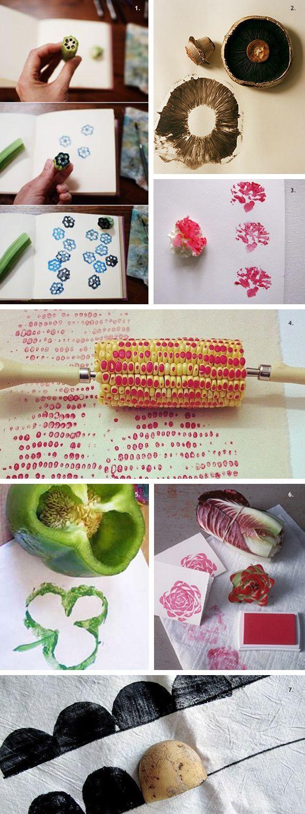 DIY veggie stamps | Pinterest | Diy wall art, Diy wall and Stamps
