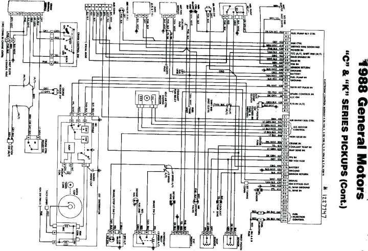 1993 Chevy Truck Wiring Diagram and Chevrolet Fuse Panel
