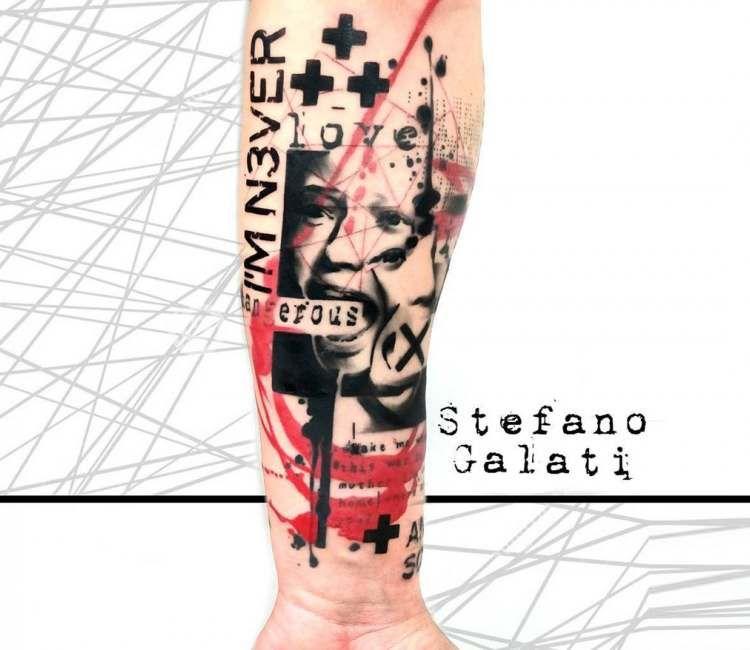 Love is dangerous tattoo by Stefano Galati