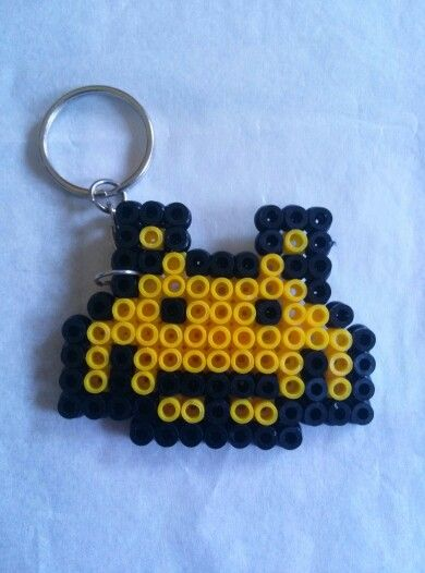 Llavero Space Invaders hama beads