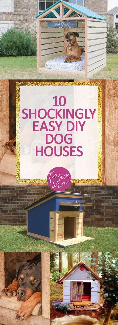 10 Shockingly Easy DIY Dog Houses -   20 diy dog outdoor