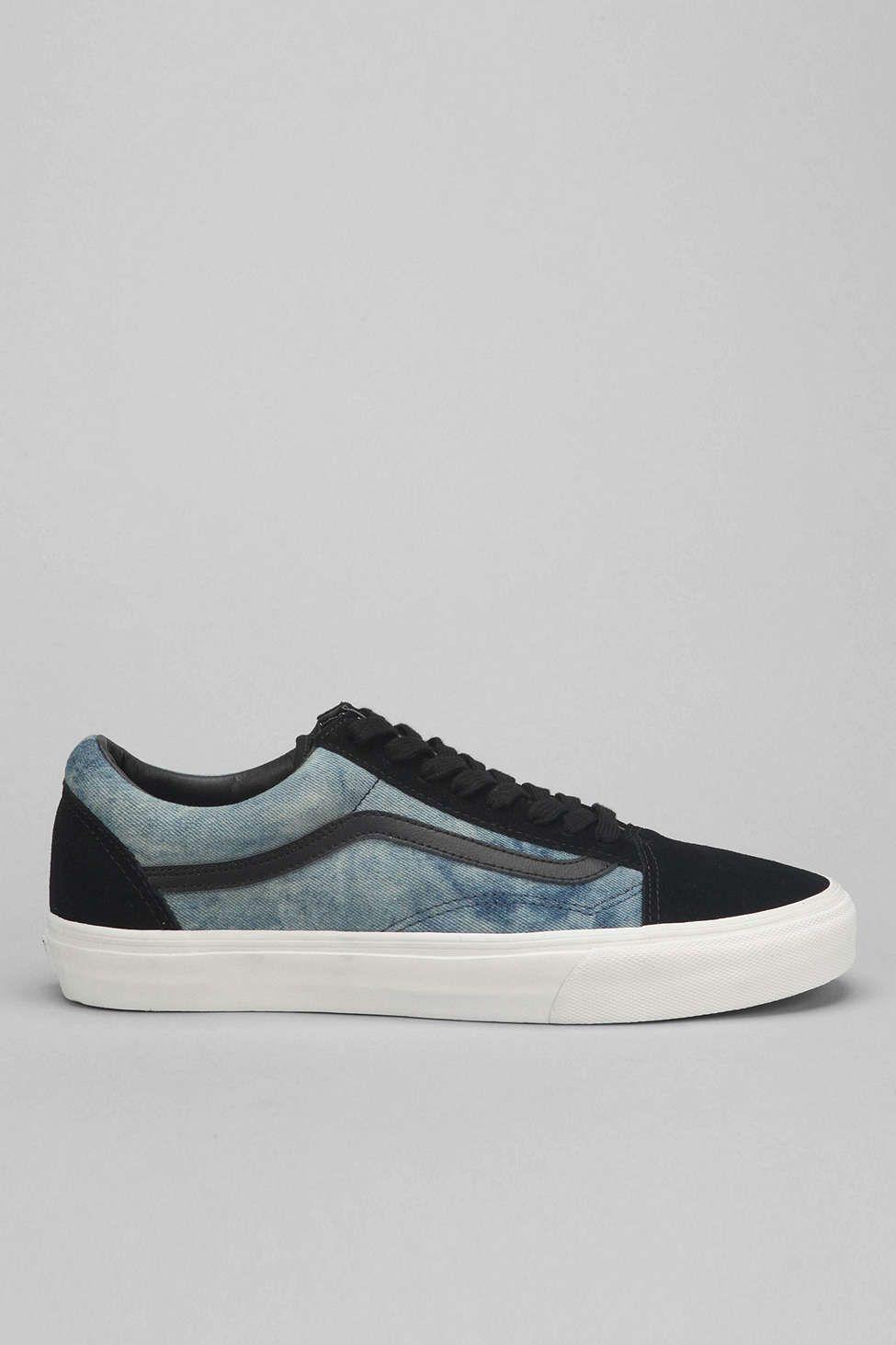 c3e19005324 Vans Old Skool Bleached Denim Men s Sneaker