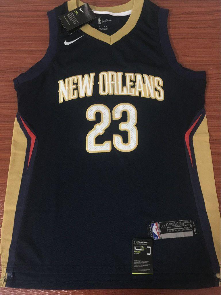 Men 23 Anthony Davis Jersey Black Swingman New Orleans Pelicans Fanatics 4bae58534