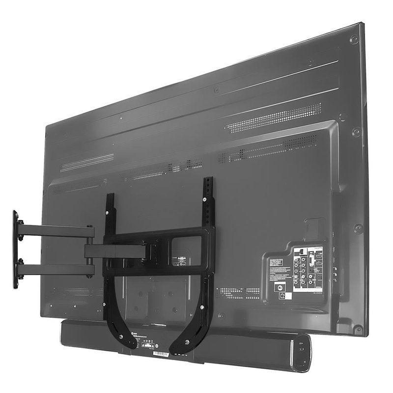 Symple Stuff Garrett Black Holds Up To 7 7 Lbs Wall Mounted Tv Universal Tv Wall Mount Tv Wall Soundbar for 70 inch tv