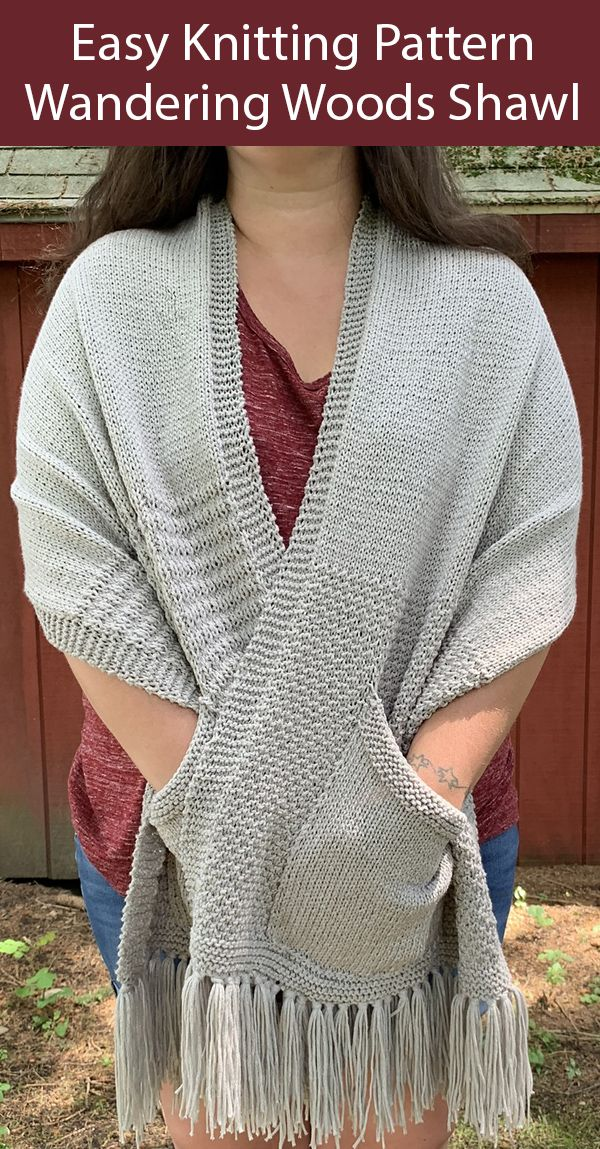 Pocket Wrap Knitting Patterns - In the Loop Knitting ...