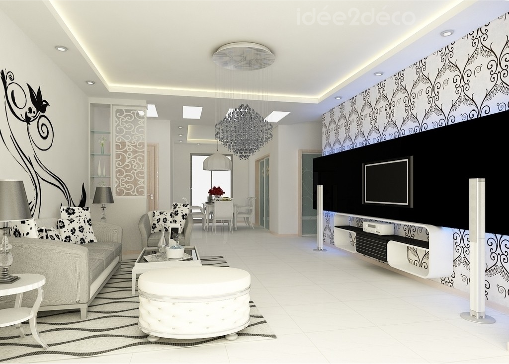 belle deco salon design blanc