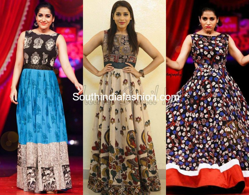 a4aa409bee6 20 Beautiful Kalamkari Anarkali And Gown Designs To Try Out ...