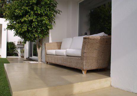 Microcemento color arena suelos pinterest microcemento color y pisos - Microcemento para exterior ...