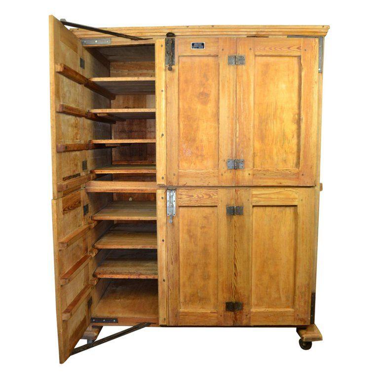 Vintage Bakery Cabinet - Baker's Cabinet on wheels ...