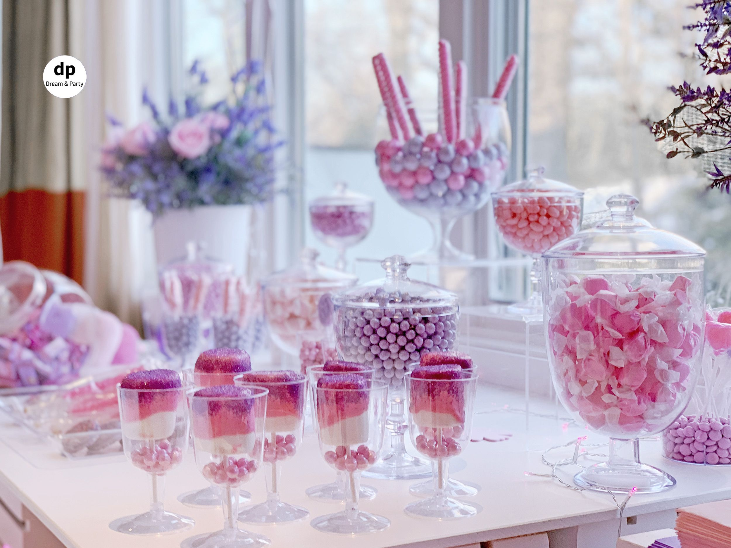 Pink Purple Candy Buffet Candy Table Purple Candy Buffet Pink Candy Buffet Purple Candy Table
