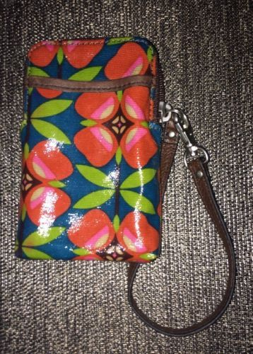 NEW W Tag Key Per Floral Phone ID Card Wristlet L@@K!