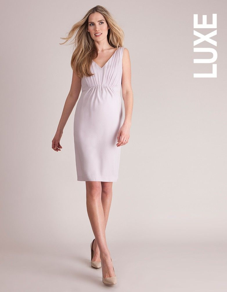 Lilac Ice Tie Back Maternity Cocktail Dress Seraphine Con Imagenes