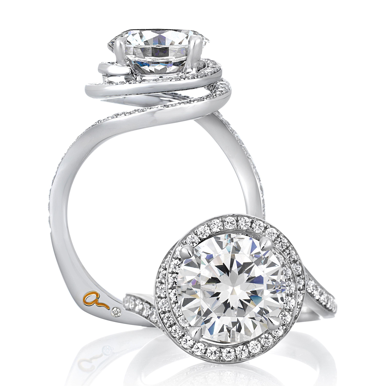 Platinum engagement rings Round diamond engagement rings