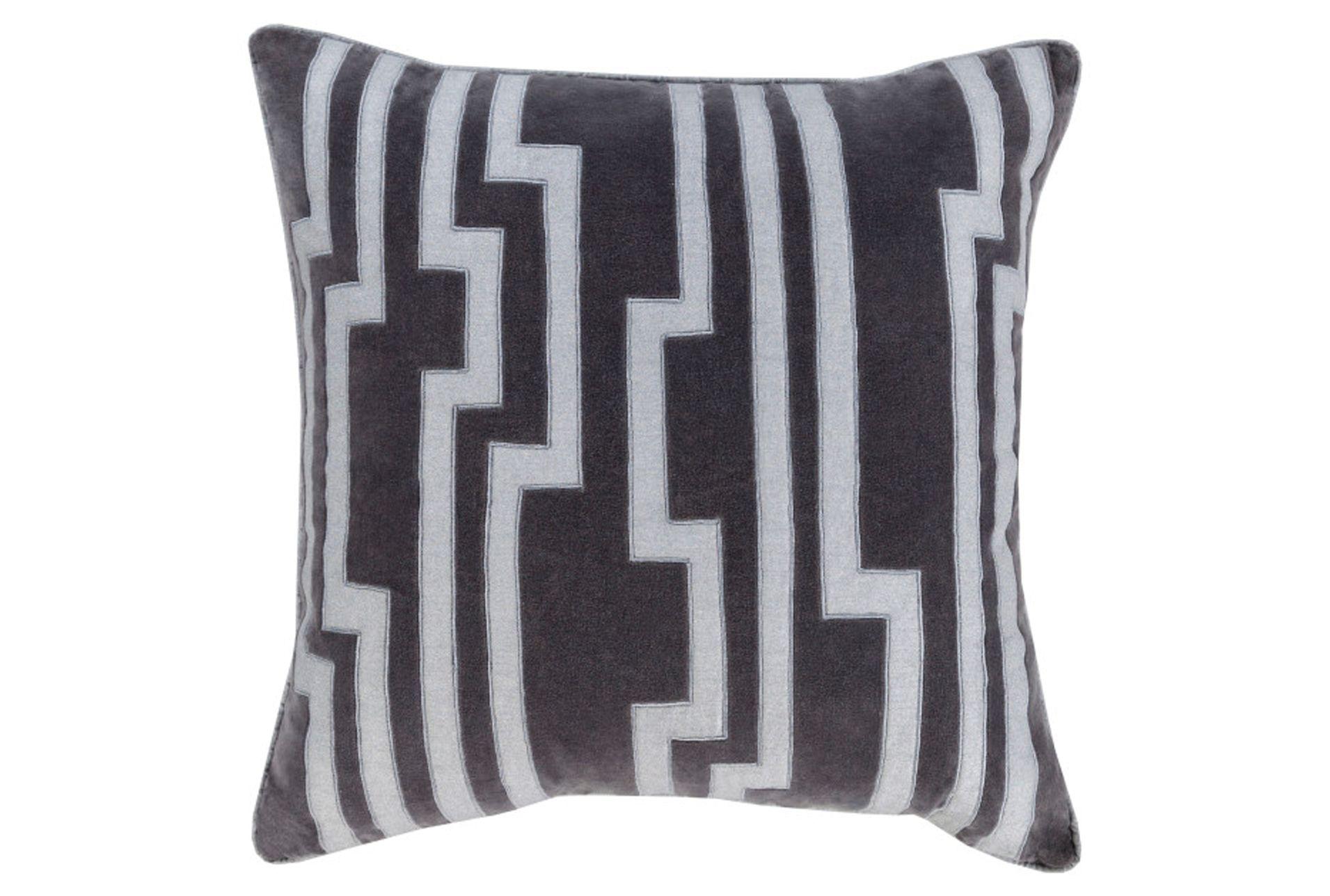 Accent Pillow Avion Geo Grey 20x20 Throw Pillows White Decorative Pillows Geometric Throw Pillows