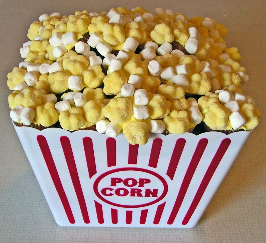 These are cute mini cupcakes covered in mini marshmallows.  - Teresa Frye