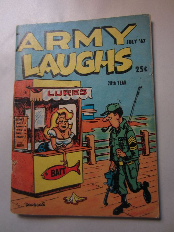 Vintage July 1967 Army Laughs 28TH Year Comic Book by kookykitsch, $10.00