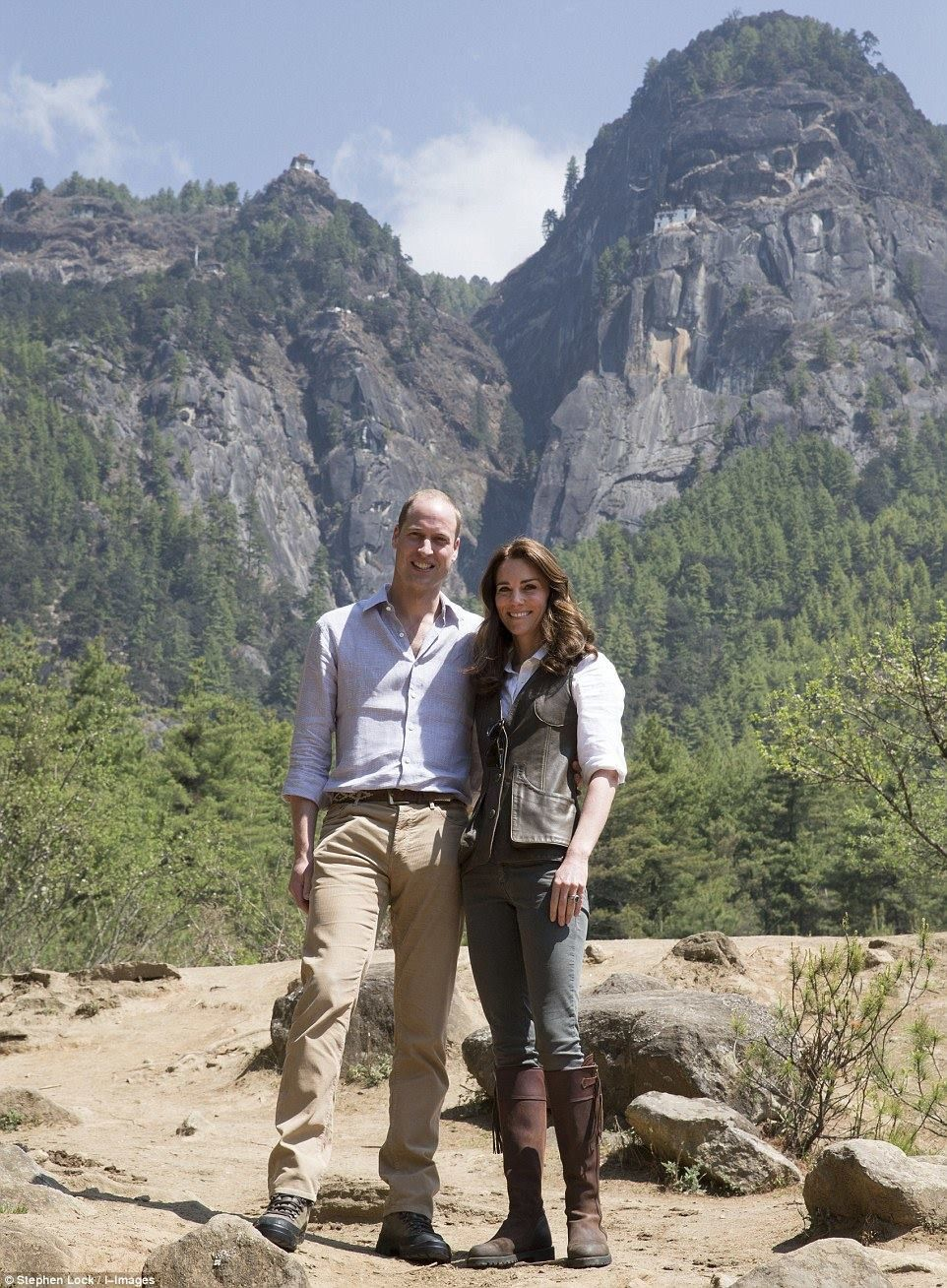 The Duke and Duchess of Cambridge. William and Kate in Bhutan April 2016