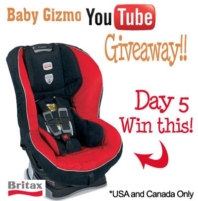 Baby Gizmo Youtube Giveaway Extravaganza Day 5 Britax Car Seat Baby Car Seats Car Seats Britax Carseat