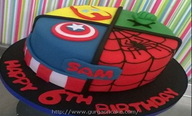 Marvel Birthday Cake Tesco Picture Birthday Cake Pinterest