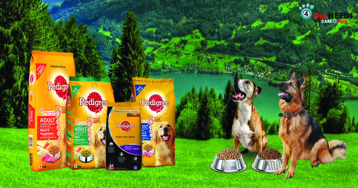 Pedigree Dog Food Contains Right Mix Of Cereals Chicken Meat