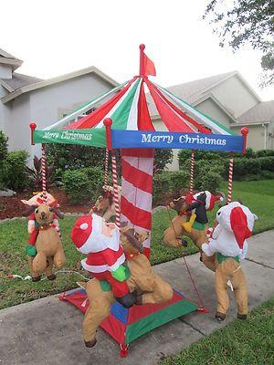 Santa Christmas Vintage Carousel