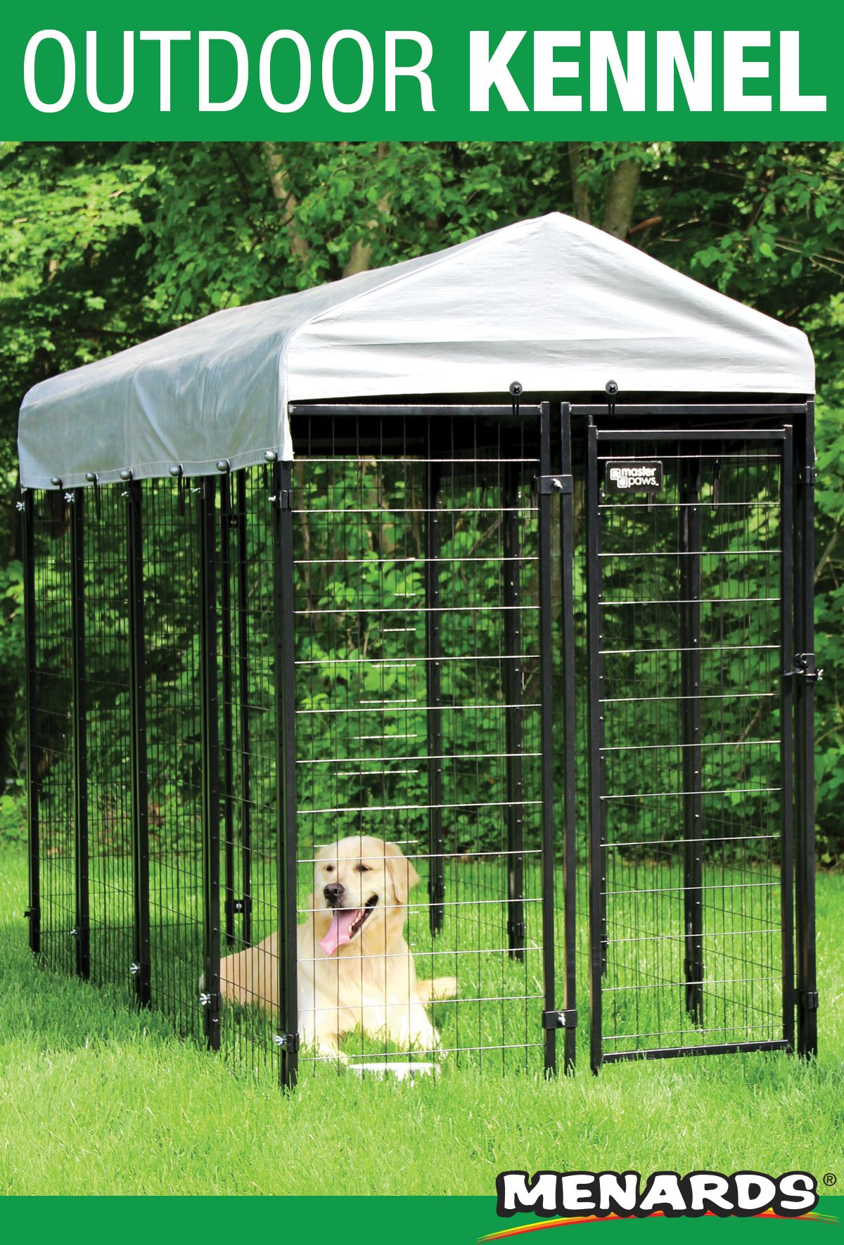 Get A Kennel That S Built To Last With Master Paws It S 6 High X 4 Wide X 8 Deep And Includes A Cover And All The Parts Metal Dog Kennel Dog