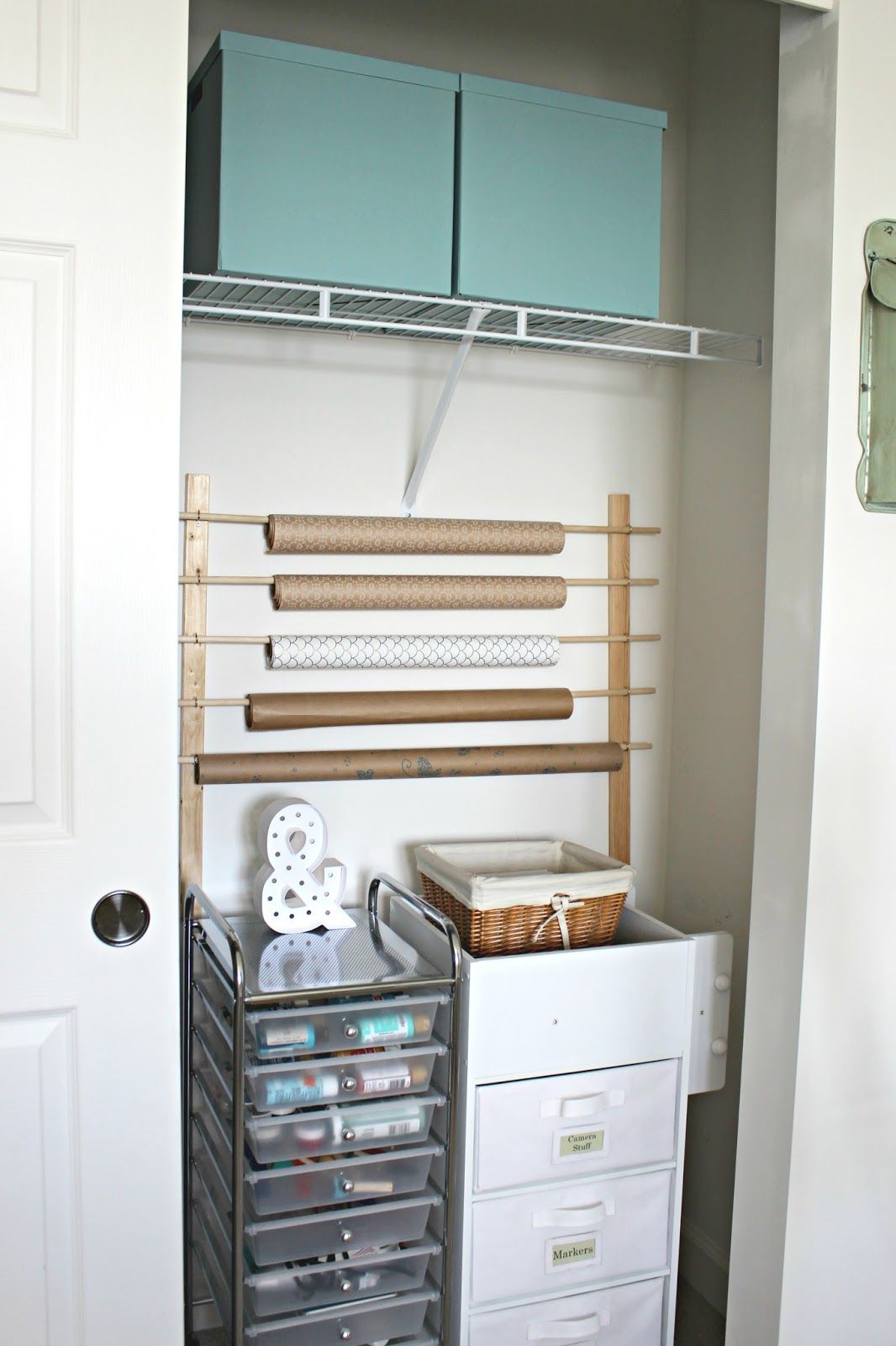 Diy wrapping paper storage wrapping paper storage diy