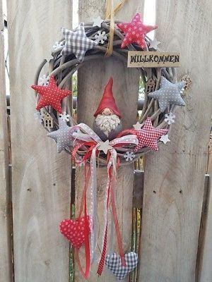 ✿Türkranz Wichtel Weihnacht Sterne Tilda Stoff Shabby Landhaus Deko Türdeko ... - My Blog
