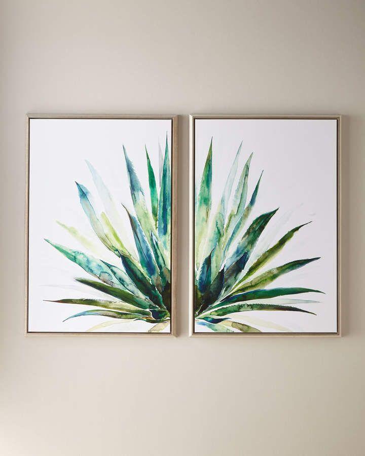 Verde Agave Wall Art 30 X 45 Diy Canvas Wall Art Boho Wall Art Diy Canvas Art