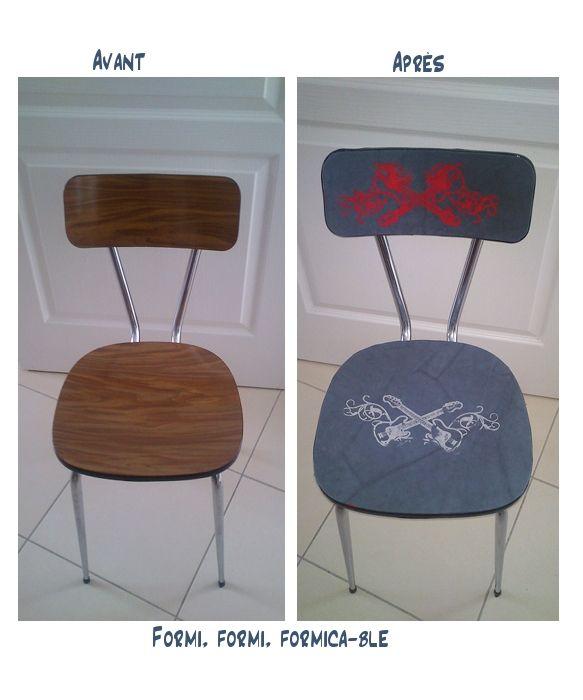 Chaise formica au goût du jour Instructions de... | Bosch Meubles on