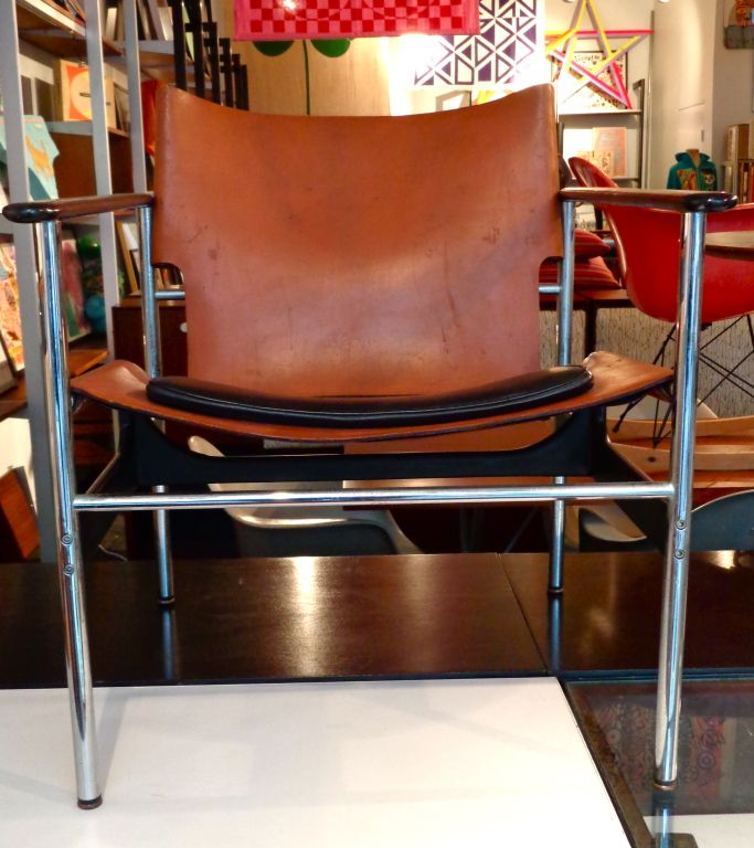 Charles Pollock Sling Lounge Chair. Knoll International 1960 | From a unique collection of antique and modern chairs at https://www.1stdibs.com/furniture/seating/chairs/