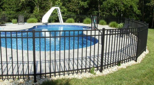 Aluminum Fencing By Mills Fence Company Cincinnati Ohio Fence Around Pool Backyard Fences Pool Fence