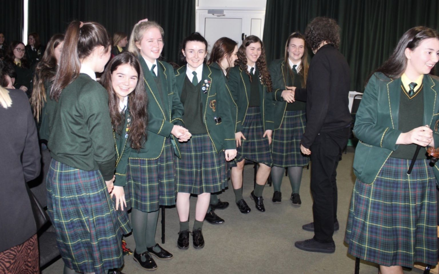 Stephen Rea visits St. Catherine's College in Armagh