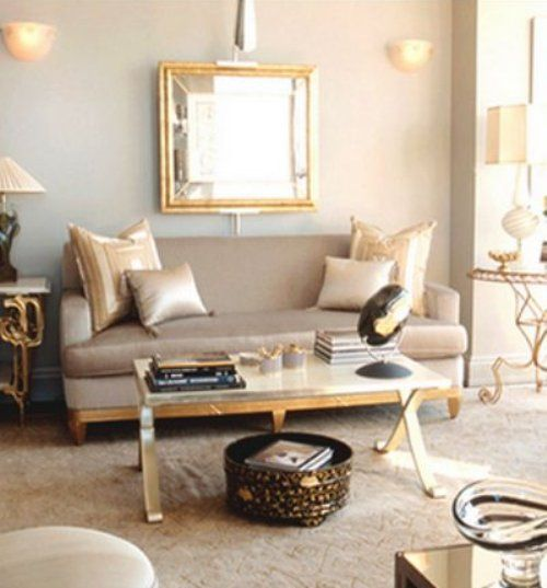 Gold and Silver Living Room | For the Home | Pinterest ...