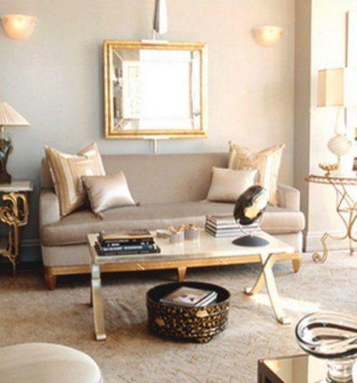 Lovely Mixed Metallics Gold Living Room Living Room Colors Living Room Decor Colors Gold accent living room decor
