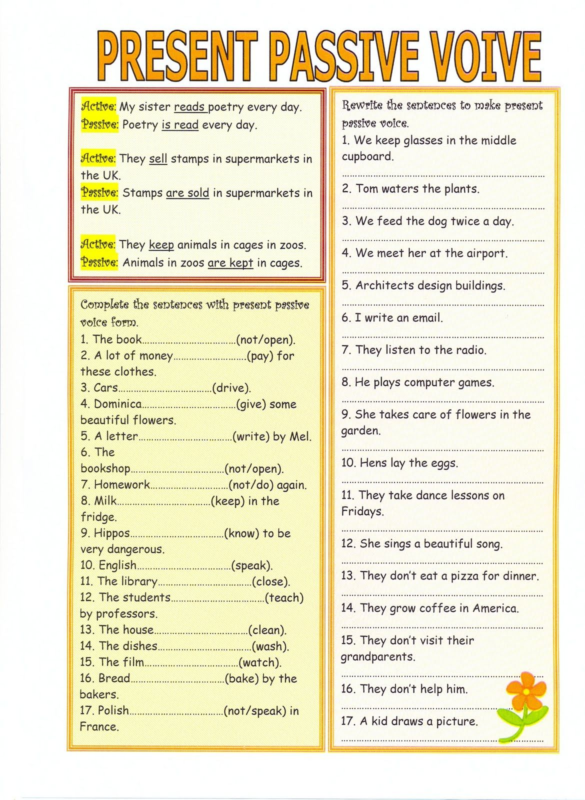 Worksheets Active And Passive Voice 1000 Que Worksheet passive voice worksheet parts of pinterest worksheets worksheet