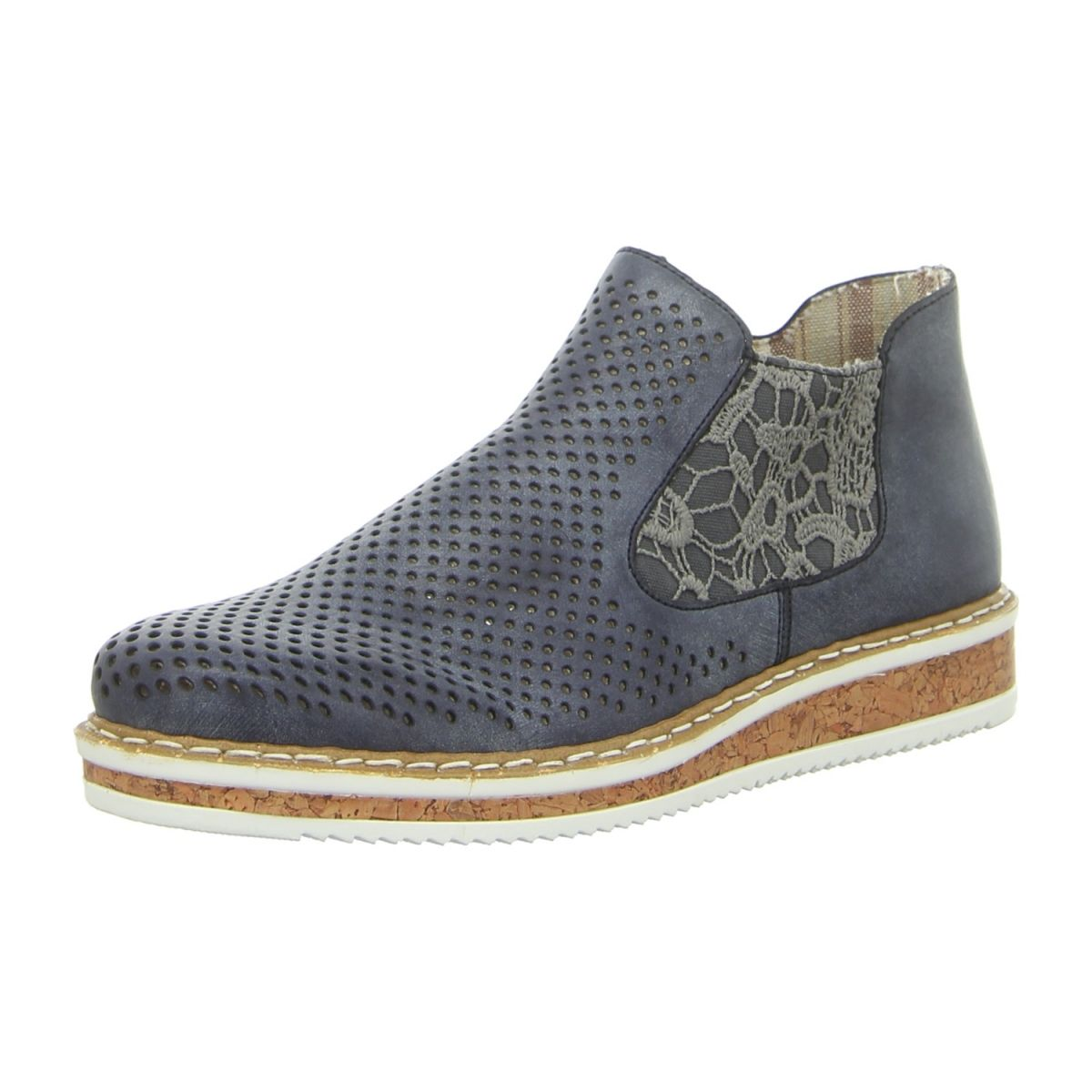 NEU: Rieker Stiefeletten N0356 14 blau | Schuhe damen