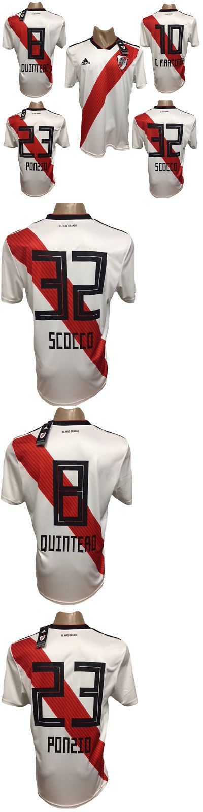 977022d523d RIVER PLATE HOME SOCCER JERSEY 2018-2019 ALL SIZES and PLAYERS Men