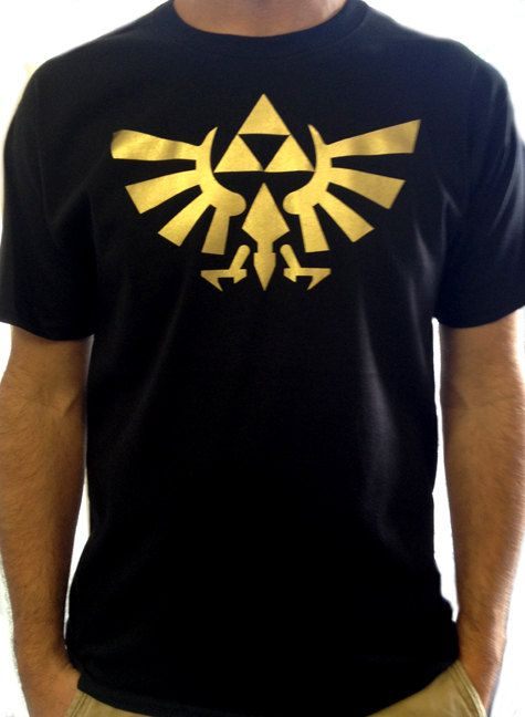 12393de66 TRIFORCE LOGO from The Legend of Zelda T-Shirt Video Game Shirt in Adult  Sizes