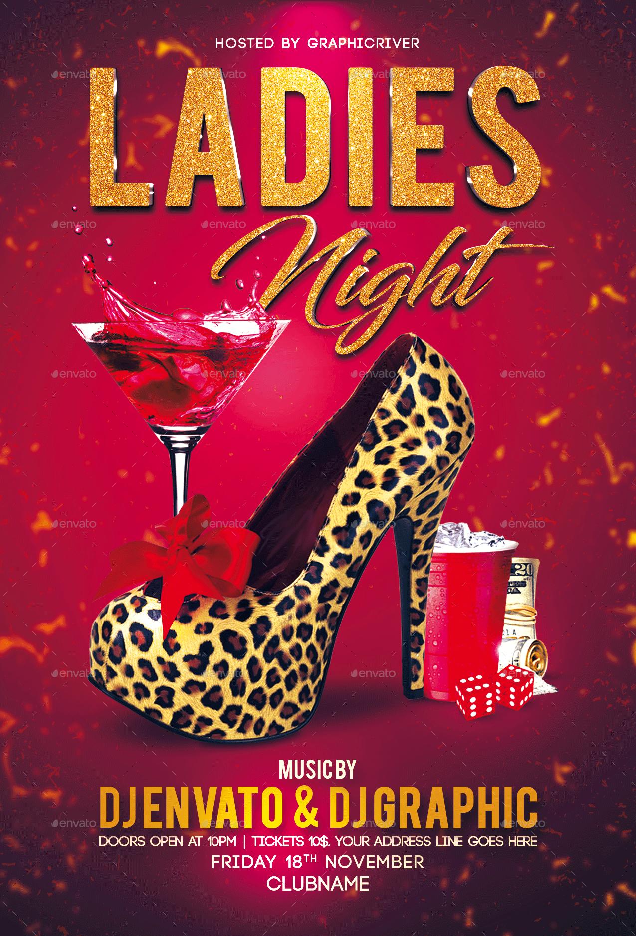 Ladies Night Flyer Template | Ladies night, Flyer, Flyer